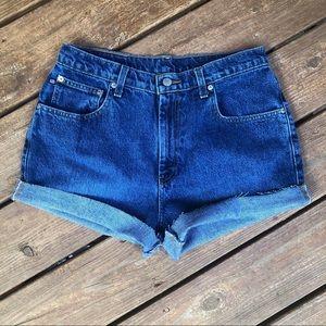 Vintage High Waisted Ralph Lauren Cutoff Shorts 10